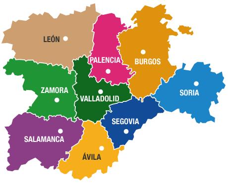 Mapa Castilla Y Leon Provincias  My blog